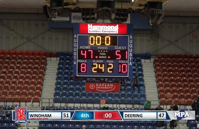 Windham upsets Deering in Quarterfinal Game, 51-47