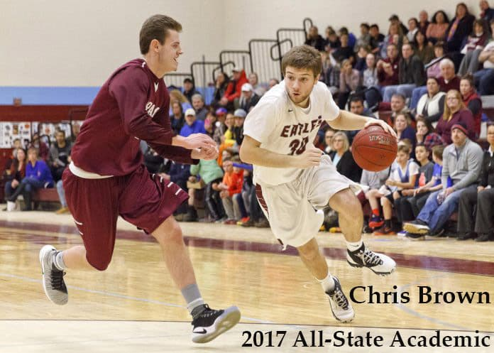 Brown selected to the 2017 Maine McDonald's All-State Academic Team